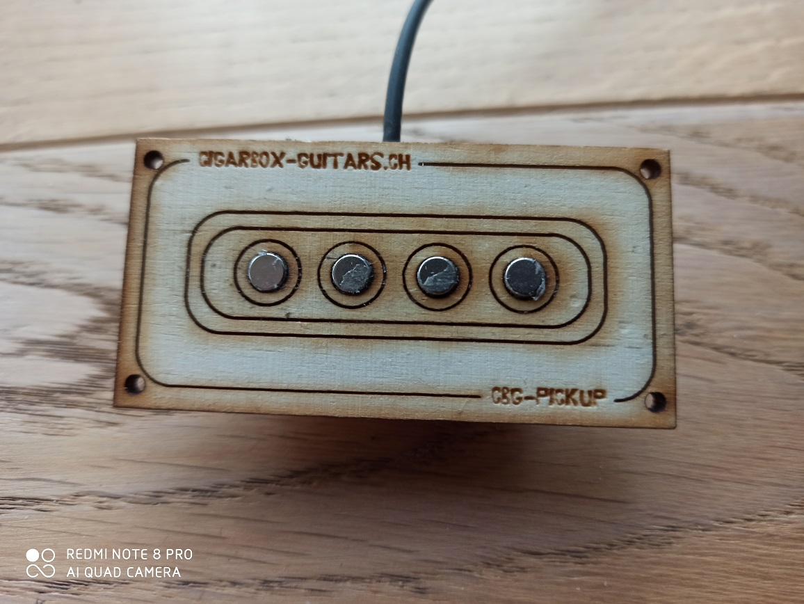 Universal 3-String Cigarbox Guitar Pickup